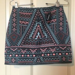 Express tribal mini skirt.